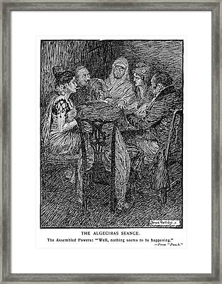 Cartoon Seance, 1906 Framed Print by Granger