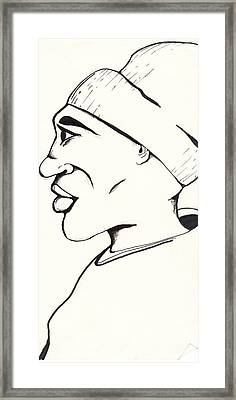 Cartoon Sketch Framed Print by Marc Chambers