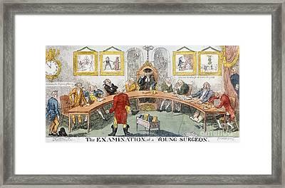 Cartoon: Surgeons, 1811 Framed Print by Granger