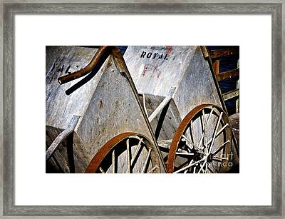 Framed Print featuring the photograph Carts Before The Catch by Sherry Davis