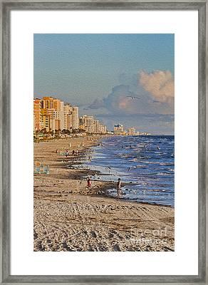 Cartwheel On The Beach Framed Print by Deborah Benoit