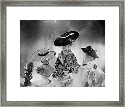 Cartwheel-style Hats By Wanamaker And J.w Framed Print by Cecil Beaton