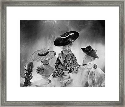 Cartwheel-style Hats By Wanamaker And J.w Framed Print
