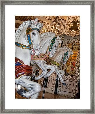 Caruosel Horses Framed Print