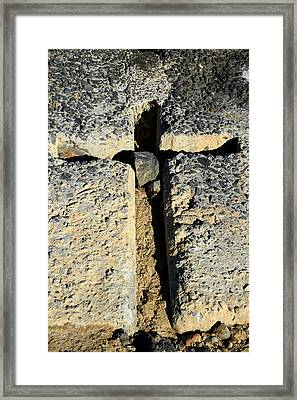 Carved In Stone Framed Print by Noel Elliot