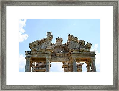 Carved Marble Of The Monumental Gate Framed Print by Tracey Harrington-Simpson