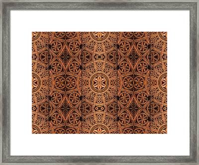 Carved Wooden Cabinet Symmetry Framed Print