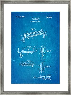 Carver Package Handle Patent Art 1923 Blueprint Framed Print by Ian Monk