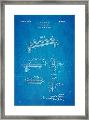 Carver Package Handle Patent Art 1923 Blueprint Framed Print