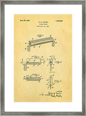 Carver Package Handle Patent Art 1923 Framed Print by Ian Monk