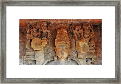 Statue At The Temple Of The 64 Yoginis - Jabalpur India Framed Print by Kim Bemis