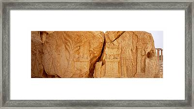 Carving On Rocks, Palmyra, Syria Framed Print by Panoramic Images