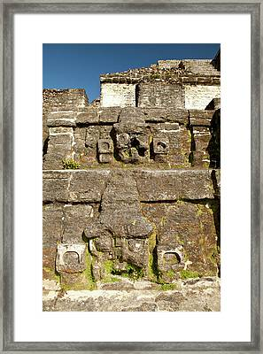 Carving On Side Of Ruin Framed Print