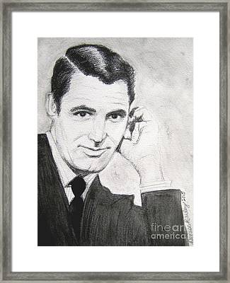 Cary Grant Framed Print by Denise Railey