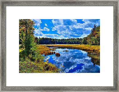 Cary Lake Near Old Forge New York Framed Print