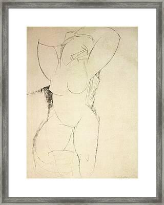 Caryatid Framed Print by Amedeo Modigliani