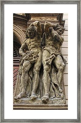 Caryatid In Prague - 02 Framed Print by Gregory Dyer