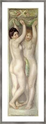 Caryatids Framed Print by Pierre Auguste Renoir