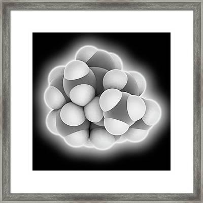 Caryophyllene Molecule Framed Print