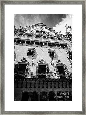 casa amatller modernisme style building in Barcelona Catalonia Spain Framed Print by Joe Fox