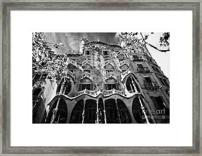 casa batllo modernisme style building in Barcelona Catalonia Spain Framed Print by Joe Fox