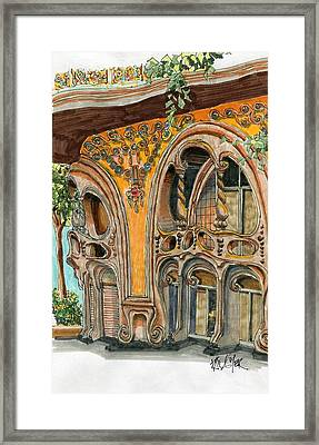 Casa Comolat Barcelona Spain Framed Print by Paul Guyer