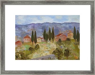 Casas De Segovia Framed Print