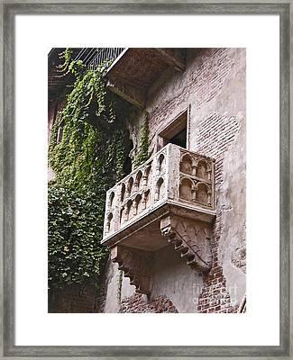 Casa Di Giulietta Framed Print