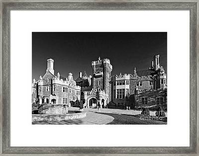 Casa Loma In Toronto In Black And White Framed Print
