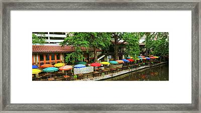 Casa Rio Restaurant At San Antonio Framed Print by Panoramic Images