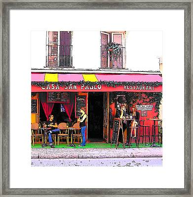 Casa San Pablo Restaurant Framed Print by Jan Matson