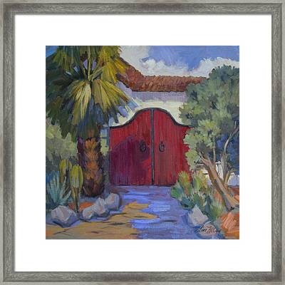 Casa Tecate Gate 2 Framed Print by Diane McClary