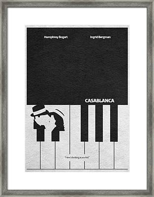 Casablanca Framed Print by Ayse Deniz
