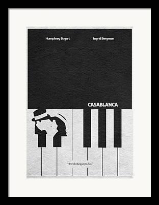 Piano Mixed Media Framed Prints