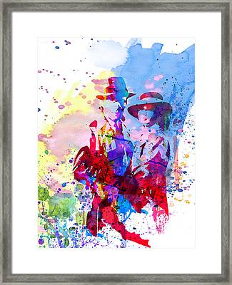 Casablanca Watercolor Framed Print by Naxart Studio