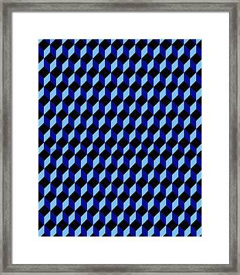 Casale Di San Basilio Mosaic Rome Blue And Black Framed Print by Asbjorn Lonvig