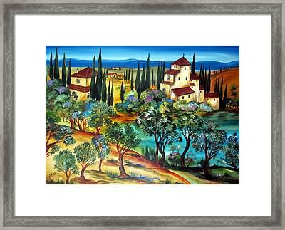 Casali Toscani-tuscany Farmhouses Framed Print