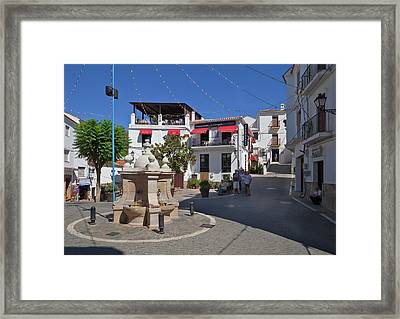 Casares Village Streets Malaga Framed Print by Panoramic Images