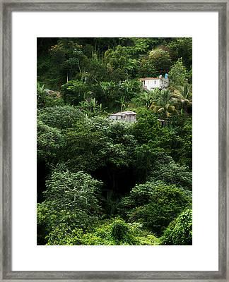 Casas En Jayuya Framed Print by Daniel Ramirez