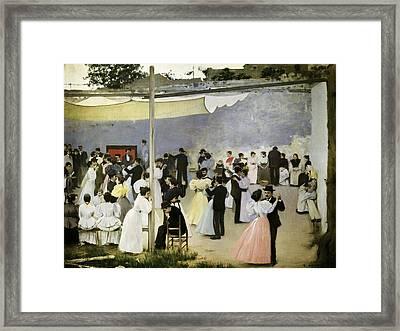 Casas I Carbo, Ram�n 1866-1932. Evening Framed Print by Everett