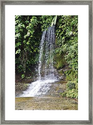 Cascada Pequena Framed Print by Kathy McClure