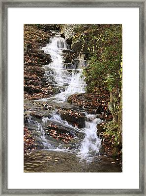 Framed Print featuring the photograph Cascade At High Falls Creek Near Mount Cheaha Alabama by Mountains to the Sea Photo