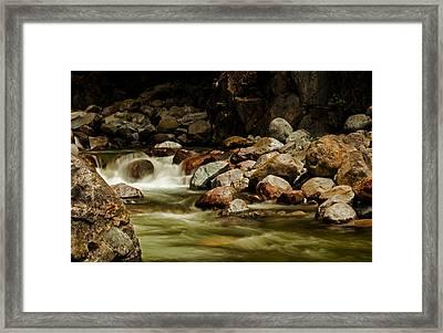 Cascade Creek - Mission B C Framed Print