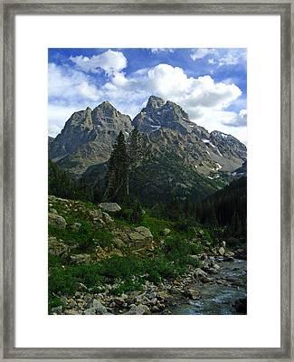 Cascade Creek The Grand Mount Owen Framed Print