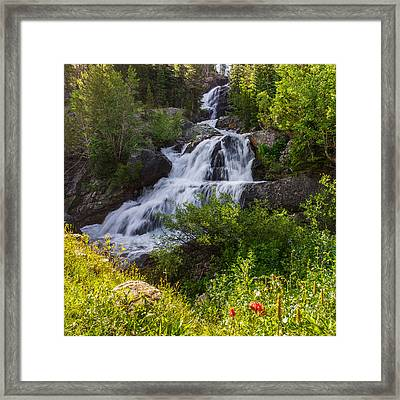 Cascade Falls - Indian Peaks Wilderness Framed Print