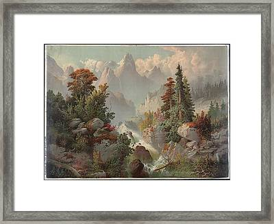 Cascade In The Rocky Mountains Cincinnati  Gibson & Co Framed Print by Litz Collection
