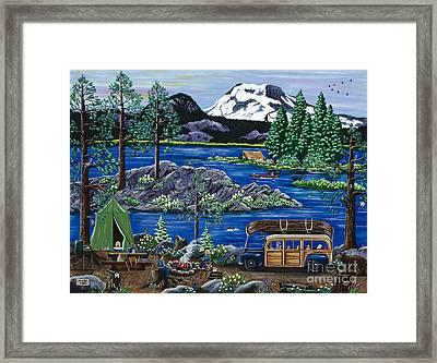 Cascade Lake Sparks Framed Print
