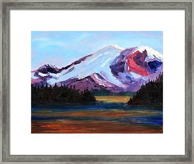 Cascade Light Framed Print by Nancy Merkle