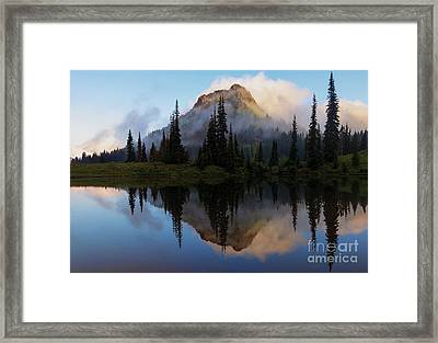 Cascade Mirror Framed Print by Mike  Dawson