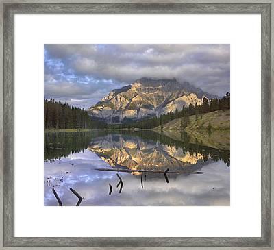 Cascade Mtn And Johnson Lake Banff Np Framed Print by Tim Fitzharris